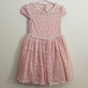 Speechless 2T lace blush dress